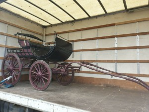 Vintage Horse Drawn Cart Carriage C/w Carriage Lamps